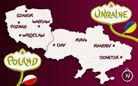 POLAND & UKRAINE STADIA MAP